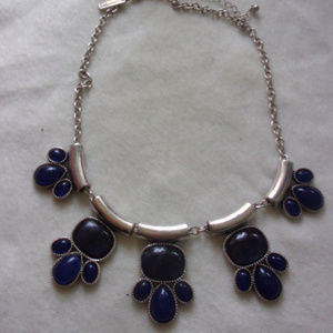 Jewelry - Dark cobalt blue statement necklace adjustable